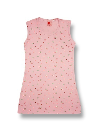 By Leyal For Kids Kolsuz Penye Elbise-21213 Pudra